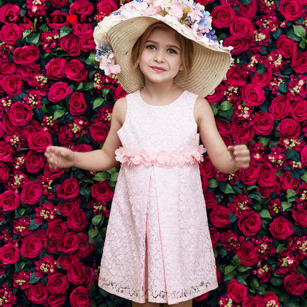 Summer Sleeveless pink Girls Print Dress Princess flower new fashion cute dresses for 2 to 3 4 5 6 7 years childrens costume<br><br>Aliexpress