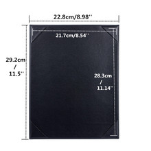 20 pcs Wholesale Restaurant Menu Cover PU Leather A4 Menu List Holder Black Menu Folder List Cover Accept Customized Order