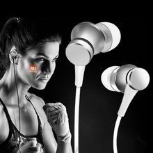 Newest Original Xiaomi Piston Fresh In-Ear Earphones Xiaomi Mi Fresh Earphone Aluminium Wired Control with Microphone For Phone