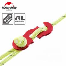 Outdoor 6061 Aluminum Alloy S Shape Slide Adjustment Rope Buckle Of Tent Red Sunshade Clip With Rope Camping Accessories 4PC/Bag(China)