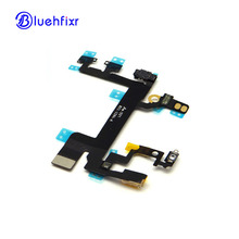 50 PCS For iPhone 5S Power Button+Volume Button Connector Flex Cable Light Sensor Power Switch ON/OFF Replacement Parts