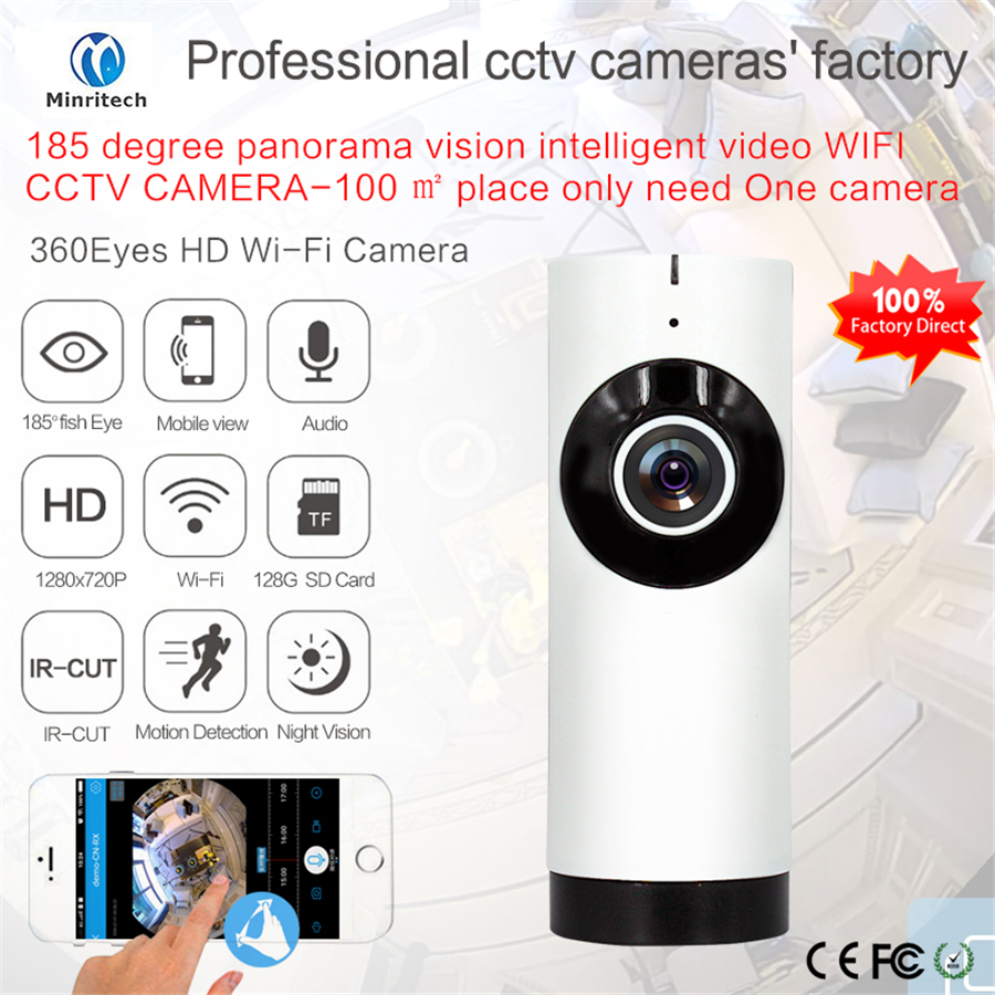 720P Home Camera Night Vision Video Monitor IP/Wireless Network APP Surveillance Home Security Internation Version US/EU<br>