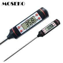 MOSEKO Digital Meat Thermometer Cooking Food Kitchen BBQ Probe Water Milk Oil Liquid Oven Thermometer Digital TP101(China)