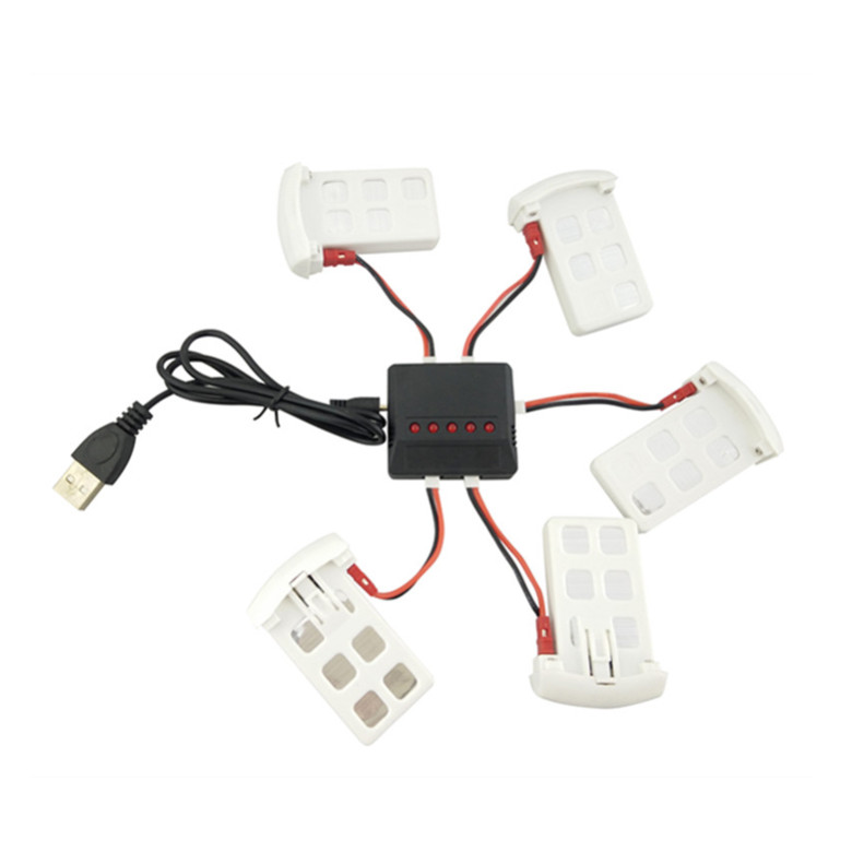 BLLRC four-axis aircraft accessories SYMA X5UW X5UC aircraft accessories helicopter battery 5PCS + charger 1 charge 5<br>