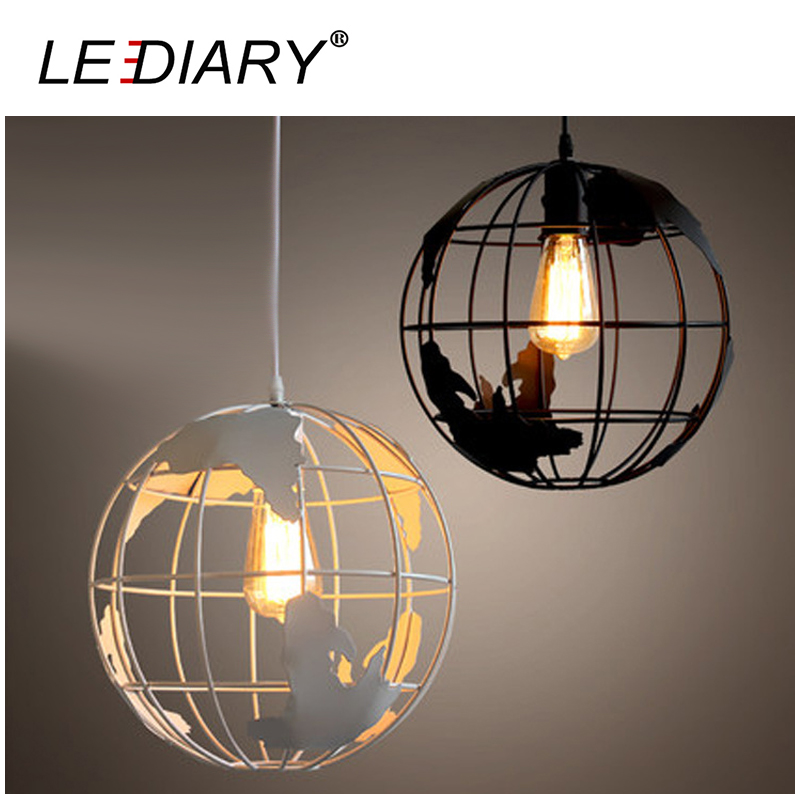 LEDIARY Earth Shape Iron LED Pendant Lamp 20CM 110V/220V E27 Holder Art Hanging Lamp Droplight Vintage Light Dimmable Restaurant<br>