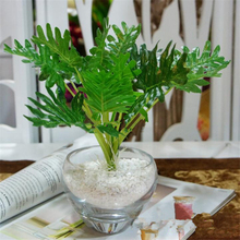 10pcs Artificial greenery Monstera palm tree Leaves leaf wedding party DIY decoration cheap small fake Flowers arrangement plant
