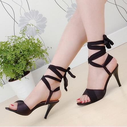 Meotina Gladiator Sandals Women 2017 Sexy High Heel Sandals Shoes Woman Black Sandals Gladiator Party Heels Summer Sandals Black<br><br>Aliexpress