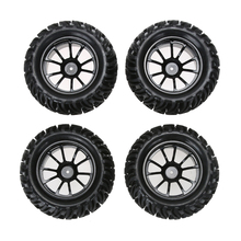 New 4PCS Wheel Rim & Tires For HSP 1:10 Monster Truck RC Car 12mm Hub FCI#