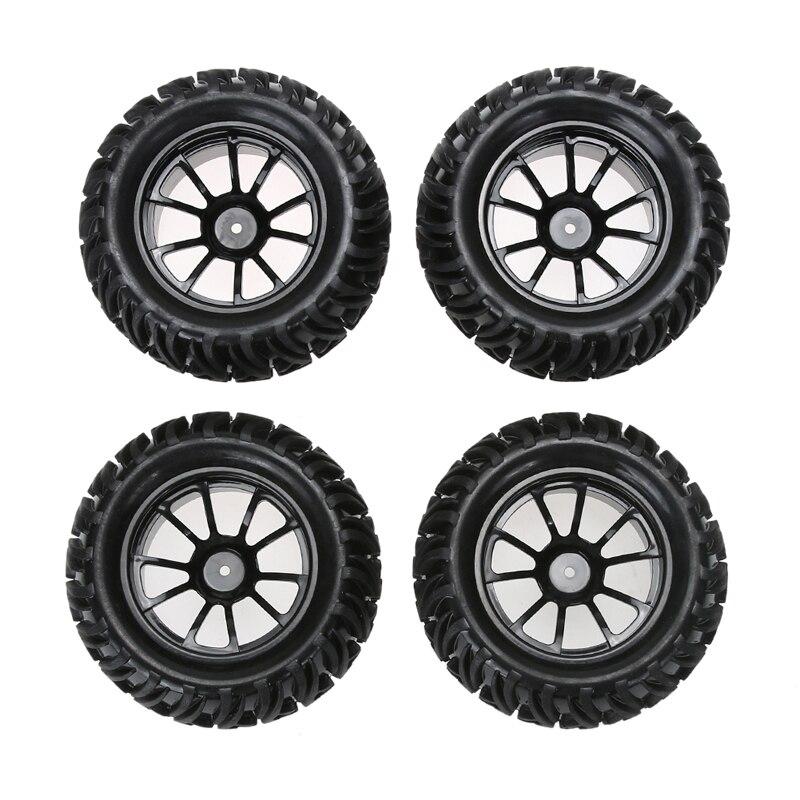 4PCS Wheel Rim &amp; Tires For HSP 1:10 Monster Truck RC Car 12mm Hub Truck Wheel <br>