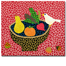 Fruits In The Plate Wall Yayoi Painting picture Home Decorative Art Picture Paint on Abstract Canvas Prints Home Decor(China)