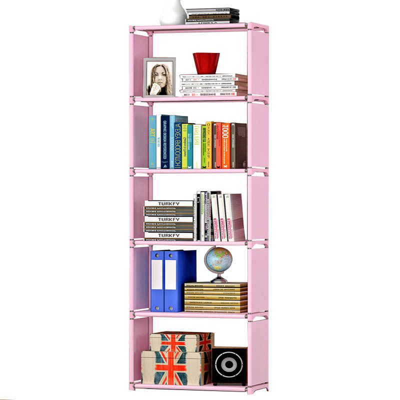 Simple home modern style non-woven fabric free assembly fashion furniture livingroom decoration multi-function 7 layer bookshelf<br>