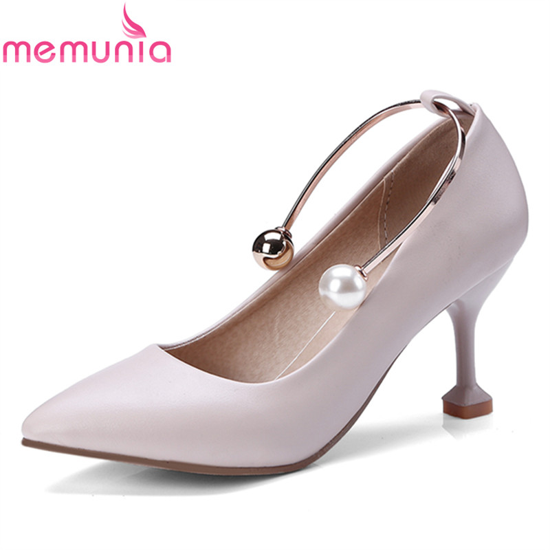 MEMUNIA women prom shoes spring autumn microfiber thin pointed toe elegant popular fashion comfortable big size unique shoes<br>