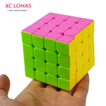 2 Types 4x4x4 Colorful Magic Cube Speed Cubo Classic Puzzle Cube High Quality Brain Teaser Children Educational Toys Cool Gifts(China)