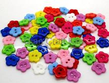 600pcs medium size smooth touch rainbow resin sun flower Multicolor Buttons sewing craft diy buttons 15mm(China)