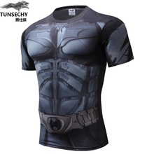 MEW Men bodys armour marvel captain america/superman batman punisher compression t shirt men thermal under tees fitness tights