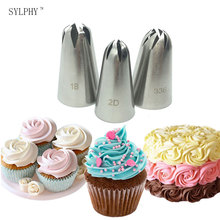 3 pcs Cake Cream Decoration Tips Set Stainless Steel Piping Nozzle Cupcake Pastry Baking Tool