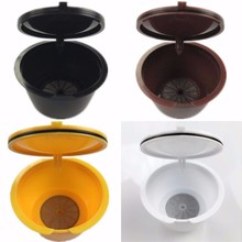 Hot,1pcs plastic 50 times refillable reusable empty dolce gusto coffee capsule Dulce Gustos Baskets Espresso Nescafe filter caps