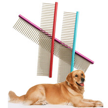 High Quality Pet Dog Comb Professional Steel Hair Trimmer Comb Dog Cat Cleaning Brush Pet Dog Cat Accessories(China)