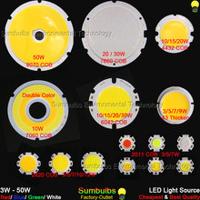 Sumbulbs 5W 10W 20W 30W 50W 200W Round COB LED Light Source Chip On Board Lamp Warm Natural Cold White Integrated Circular COB