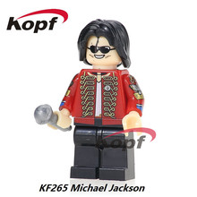 Super Heroes Custom Halloween Michael Jackson Thriller Zombie Powerman Power-Man Bricks Building Blocks Children Gift Toys KF265