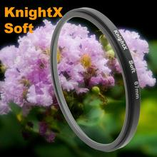 KnightX Soft Focus Effect Diffuser Lens Filter For Sony Canon Nikon 52mm 58mm 67mm Lens SLR camera tracking number d5200 d5300
