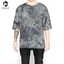 HZIJUE streetwear hipster oversized tshirt clothing fashion korean novelty weed shirt men clothes hip hop rock t shirts tie dye