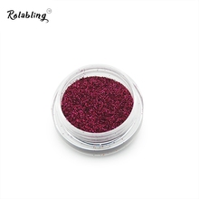 2017 Hotest Fashion Rose Red 2.5G Nail Art Glitter Powder Nail Art Decorations Polish Nail Art Design Laser Powder For Nails