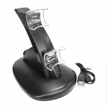 1pcs Black LED Light Quick Dual USB Charging Dock Stand Charger For PlayStation 3 For PS3 Controller Console