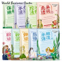BIOAQUA Brand Useful Facial Skin Care Face Mask Plant Ingredient Moisturizing Whiting Oil-control Beauty Korea Cosmetics