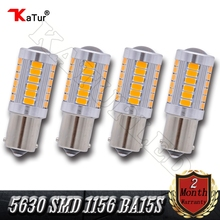 4 Pieces 5630 SMD 1156 BA15S P21W Led Car Light 33 LED Bulbs RV Camper Corner Stop Parking Backup Reserve Light White Red Amber(China)