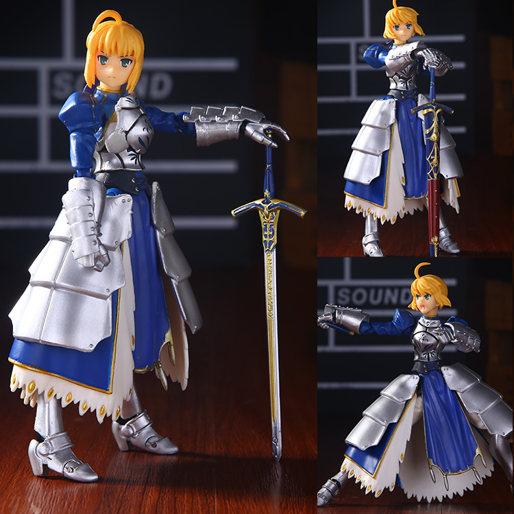 14cm Anime Fate stay Night Saber Figma 227 PVC Action Figure Collectible Model Toy Fate stay Night Figure<br><br>Aliexpress