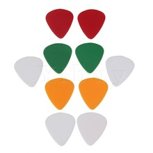 Yibuy 10x Pieces Durable Plastic Guitar Pick Combo 0.81mm(China)