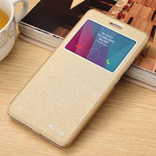 For Huawei Honor 5X Leather Case Original ALIVO High Quality PU Leather View Window Flip Cover Case For Huawei Honor 5X GR5 #VA
