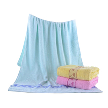 70*140cm Pure Cotton Thicken Bath Towels with Heart Pattern Absorbent Beach Bath Towels