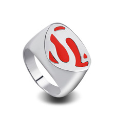 European Fashion Superman Batman War Alloy Ring Vintage Aros Super Man Logo Wedding Rings For Women Jewelry