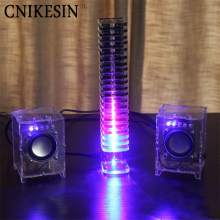 CNIKESIN DIY music suite Single light cube suite DIY parts LED electronic music spectrum 21 audio light column diy kit(China)