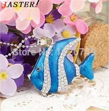 JASTER Rushed Stock Wholesales Usb Jewelry Waterproof Metal Fish Shape 2.0 Flash Drive Memory Necklace original Quality Pendrive