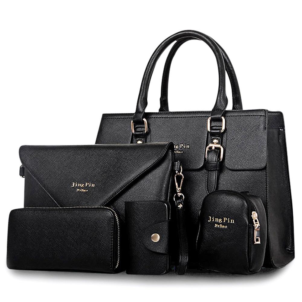 2018 NEW Fashion 5pcs/set Women Handbags Famous Brand Designer PU Leather Women Bag Set High Quality Women Shoulder Bag Set<br>