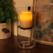 Hurricane Candles Holder Terrace Storm Lantern,DFL Seeded Glass Holder with Flameless Candles with Timer,Garden Decoration(China)