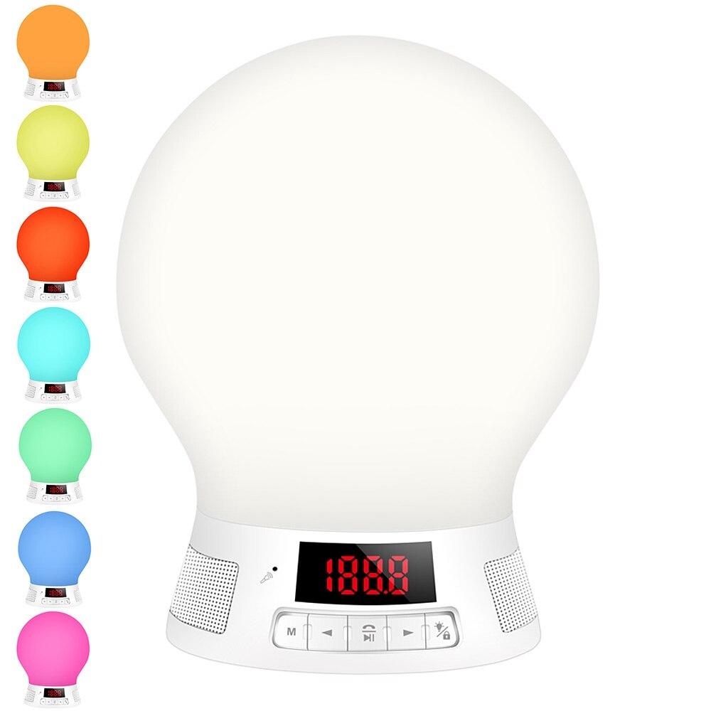 BL10T Smart LED Bluetooth Light Touch Sensor Adjustable Digital Display MP3 Music Player Night Light 6-10 M Wireless distance<br>