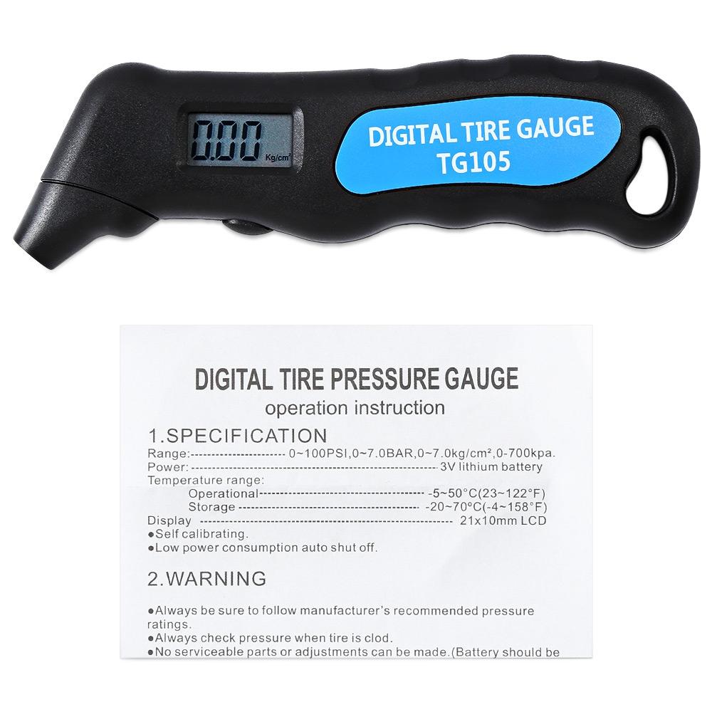 New-Portable-TG105-Digital-Car-Truck-Tire-Tyre-Air-Pressure-Gauge-Meter-Manometer-Barometers-Tester