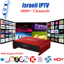 Israel Hebrew World 4800+ Channels IPTV Box T95U PRO Android 6.0 TV Box S912 Octa-core cortex-A53 Mali-T820MP3 2G16G Set Top Box(China)