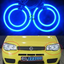 Multi-color Ccfl Angel Eyes Kit White 7000k Ccfl Halo Rings Headlight for Fiat Palio 2008 4 Rings + 2 CCFL Inverters