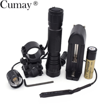 1 Mode Tactical Flashlight 3800 lumens XM-L T6 LED 501B Hunting linterna Led Lampe Torche +mount +Remote switch+Battery +Charger