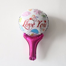 Free shipping Air balloons pokemon i love you helium foil balloons love Wedding Bithday Party Decor plain Metallic Balloon(China)