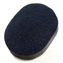 100% New 1pcs Face Cleansers Pad magic Bamboo Charcoal Black Natural Fiber makeup pad Face Wash Sponge Puff Pad face care