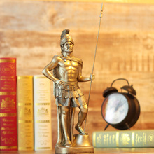 Polyresin Ancient Greek/Roman Warrior Armor model Creative Home Decration Aircraft Gift(China)