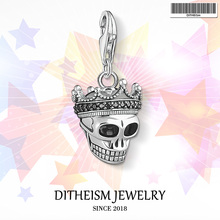 Buy Skull King Charms Pendant,2018 Fashion Jewelry 925 Sterling Silver Punk Gift Women Men Boy Girls Fit Bracelet Necklace Bag for $7.26 in AliExpress store