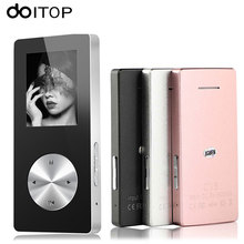 DOITOP Bluetooth Metal MP4 Player Hifi Lossless MP4 MP3 Music Player With Speaker Walkman Support TF Card FM Video Game Record(China)