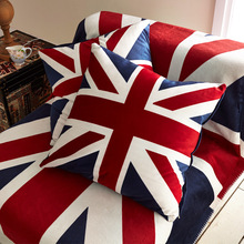 The British American Cartoon Creative Simple Red and Blue Flag European Office Sofa Cushion Pillow Pillow
